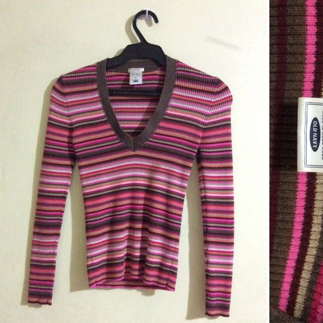 Old Navy Striped Knitted Pullie