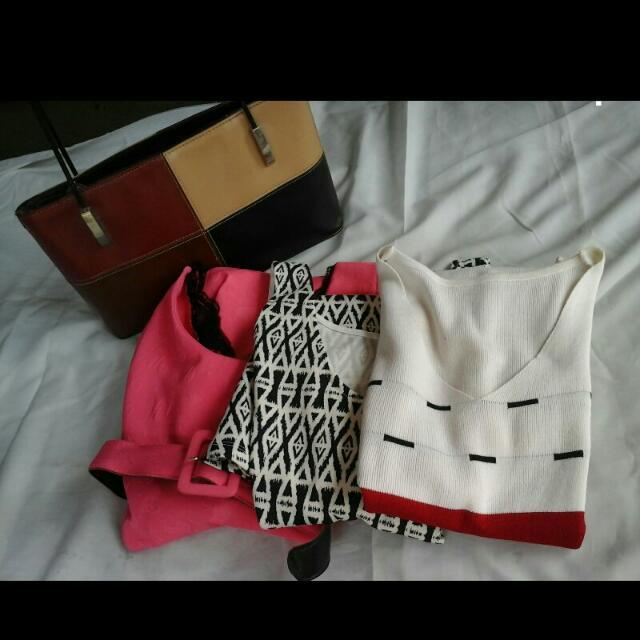 REPRICED : OOTD BUNDLE SALE! DRESSES &BAG