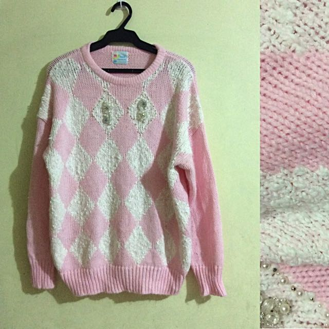 Pink Knitted Pullie