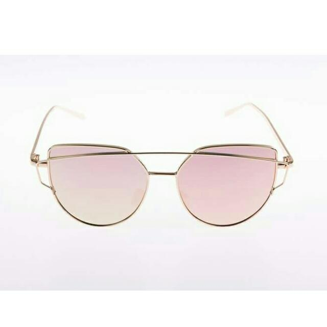 Dior Inspired Sunnies (Pink)