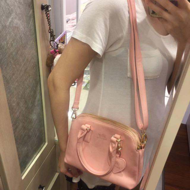 Pixy 粉色包包 手提包肩背包斜背包 林依晨代言