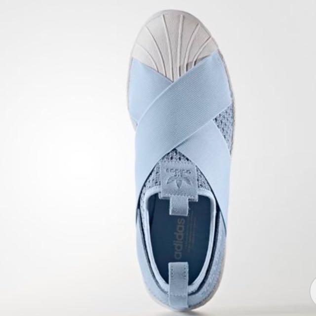 Op. adidas superstar scivolare su azzurro bb2121, la moda femminile