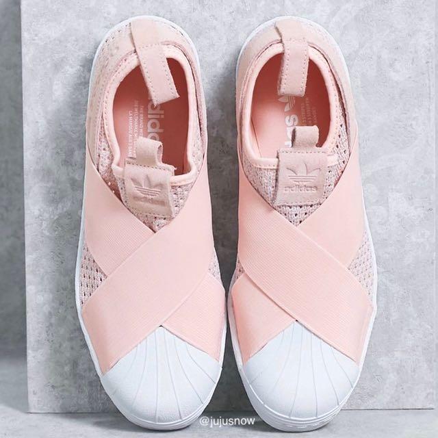 Mentalmente noioso terra principale  PO] New 2017 Authentic Adidas Korea Japan Slip On Knit Pink, Blue, Navy,  Black, White, Women's Fashion, Shoes on Carousell