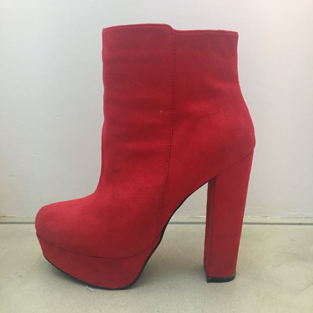Postage Incl - Red Platform Boot
