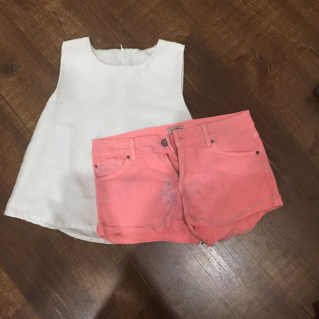 Pull And Bear Pink Short