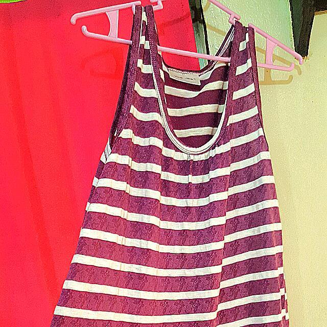 Purple Striped Dress