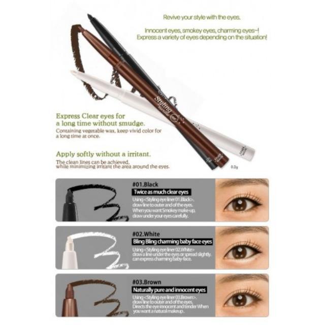 [READY] Etude House Styling Eye Liner Black Original