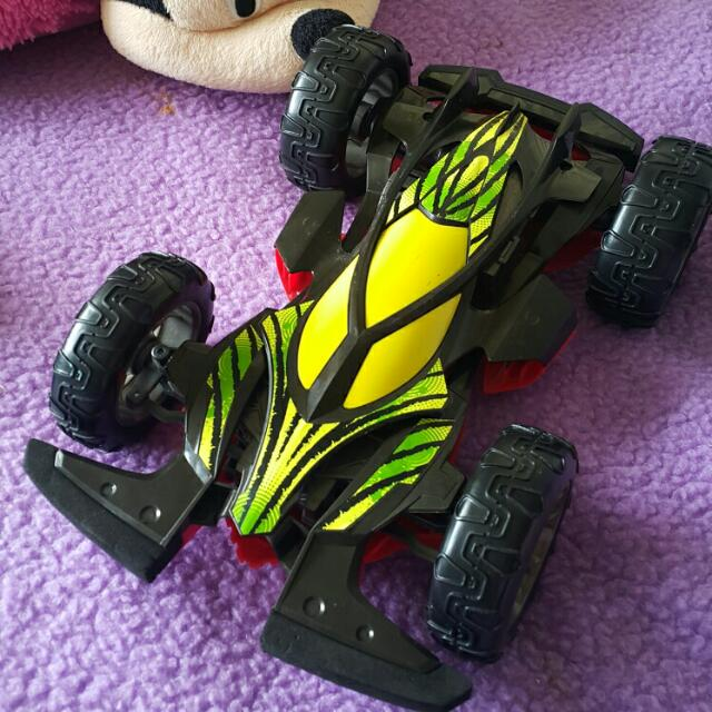 Remote control car with a cord