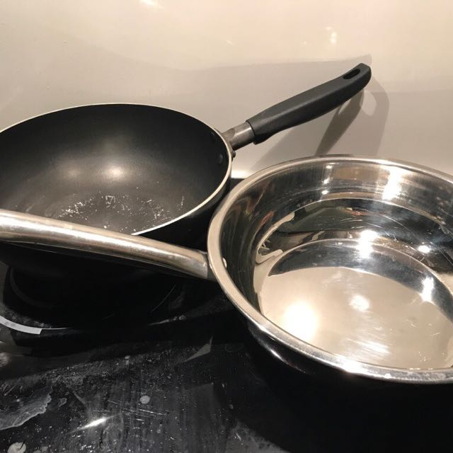 Stainless Steel And Nonstick Frying Pan