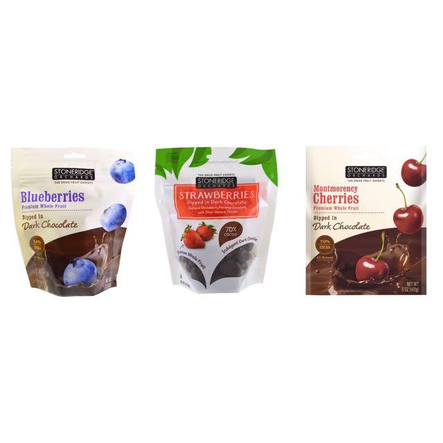 stoneridge orchards 有機天然草莓果乾巧克力 藍莓果乾巧克力