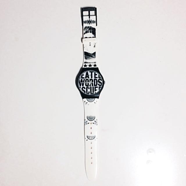 Swatch 設計師Lorenzo Petratoni聯名 黑白