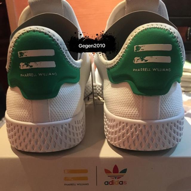 ffed603f0630b UK6   US6.5 Pharrell Williams Tennis Hu Primeknit Shoes BA7828(Green ...