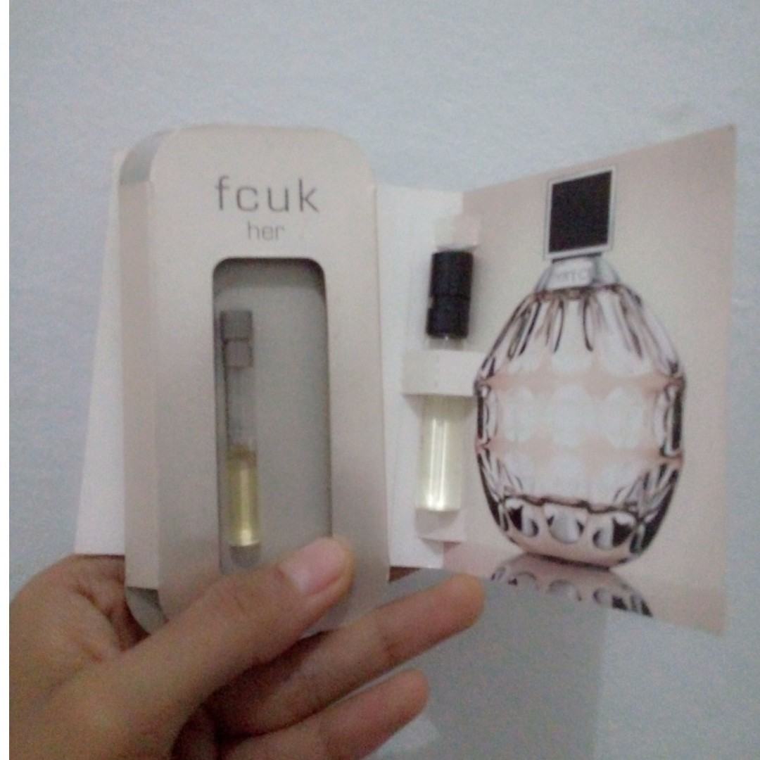 Vial perfume jimmy choo + fcuk for her
