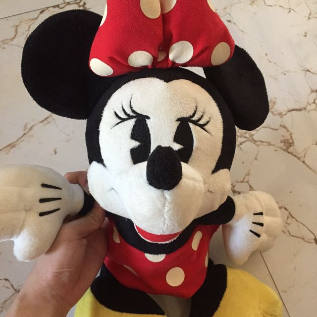 VINTAGE MINNIE MOUSE PLUSH TOY FROM JAPAN (sega) DISNEY