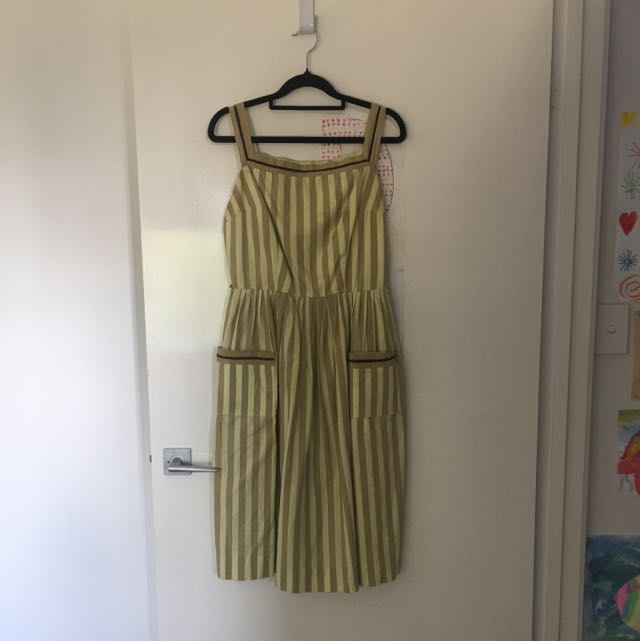 Vintage Stripped French Day Dress