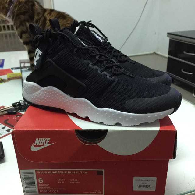 W AIR HUARACHE RUN ULTRA 武士黑白2代 US6 23