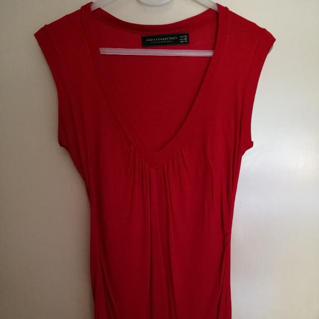 Zara Sleeveless Sexy Red Top