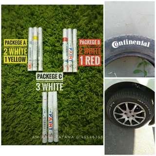 3pcs Paint Marker Tyre