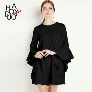 U.S. Style Chiffon Ruffle Sleeve Dress