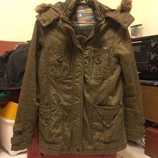 #換季含運 Samuel&Kevin 軍綠色鋪棉外套#三百元外套