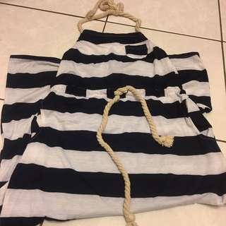 海軍風條紋長洋裝#運費我來出