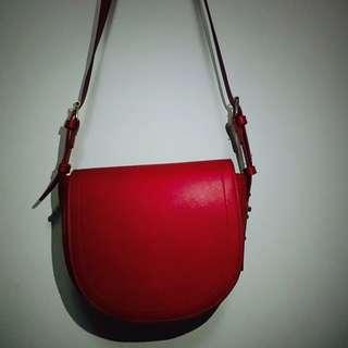 FOREVER21 日本帶回 紅色側背包
