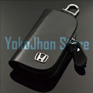 Gantungan Kunci Mobil Kulit Logo HONDA-TOYOTA