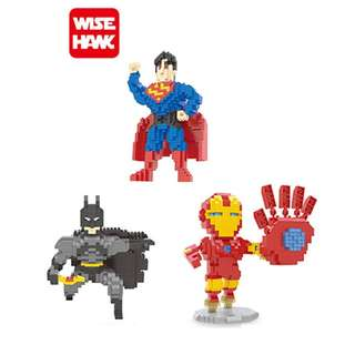 (15cm Tall) Superman, Batman, and Ironman - Wise Hawk