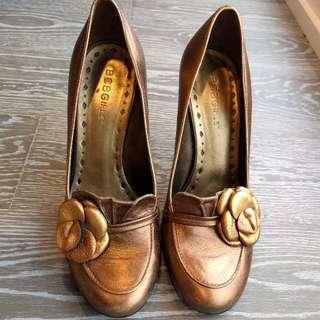 Bronze BCBG Heels
