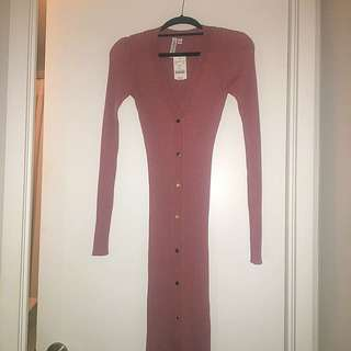 PRICE DROP - M for Mendocino Sweater Dress In A Stunning Dusty Rose
