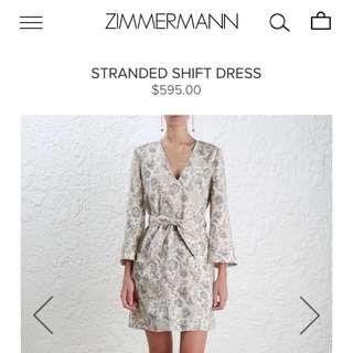 ***Make An offer*** Branded Zimmerman AW17 Stranded Shift Dress BNWT