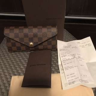 Authentic Louis Vuitton Damiere Ebene Josephine Wallet