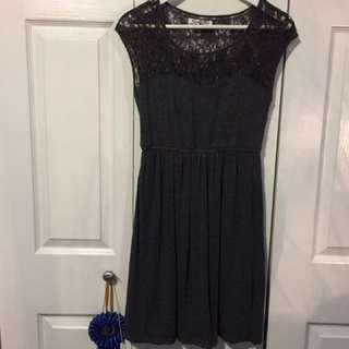 Romy Grey Lace Dress