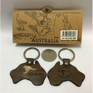 Genuine Leather Keychain from Australia
