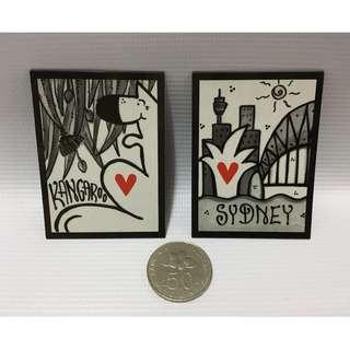 Magnets from Australia - Kangaroo, Sydney
