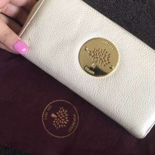 Mulberry Cream Leather Wallet