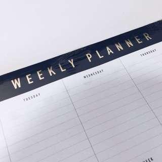Brand New Kikki K Gold Foil Weekly Planner