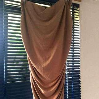 Nude coloured slinky Skirt