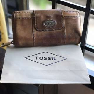 Used Authentic Fossil Wallet