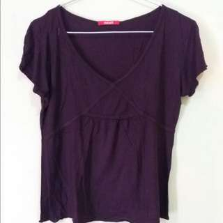 Red Brown Top by Mixit