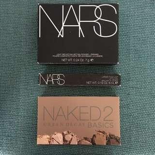 Brand New High End Makeup Nars Urban Decay : Light Reflecting Powder / Naked2 Basics Eyeshadow / Nars Larger Than Life Place Vendome