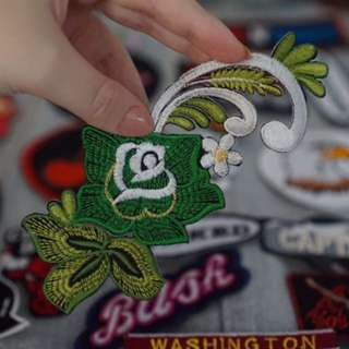Green Floral Patch