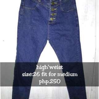 High Weist Skinny Jeans