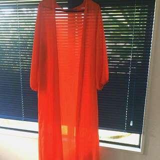 Bright Orange Kimono