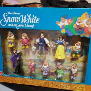 Vintage Snow White and Seven Dwarfs Figurines from Mattel