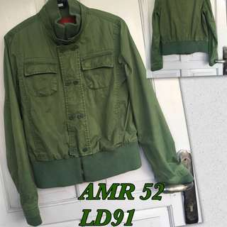 green cropped bomber
