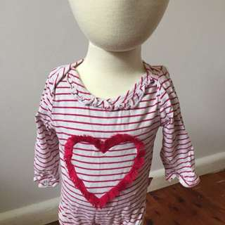 Pumpkin Patch Red Heart Top Size 00