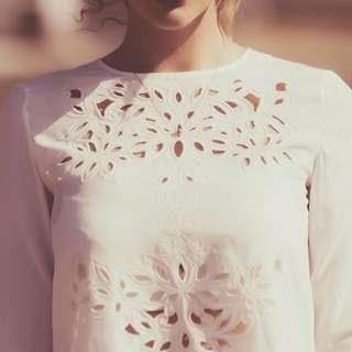 Keepsake The Label White Lace Dress Size Small