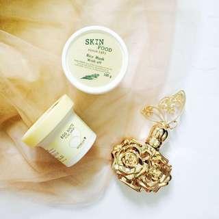 Skinfood Rice Wash Off Mask & Egg Pore Mask