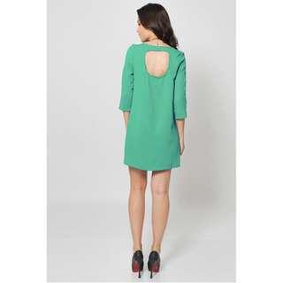Green shift dress with back cutout #SunriseTV
